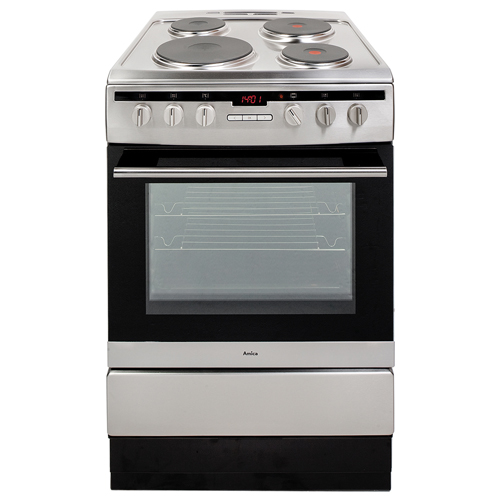 608EE2TAXX 60cm freestanding electric cooker with electric plate hob, stainless steel