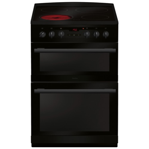 AFC6550BL 60cm freestanding electric double oven with ceramic hob