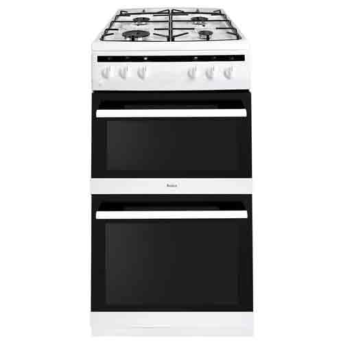 AFG5100WH 50cm freestanding gas twin cavity with gas hob