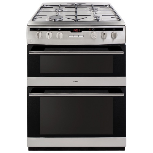 AFG6450SS 60cm freestanding gas double oven with gas hob