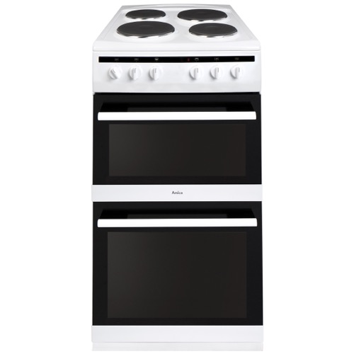 AFS5500WH 50cm freestanding electric double oven with electric hob