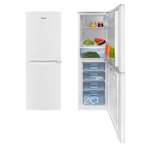 FK1984 50cm freestanding 50/50 fridge freezer, white