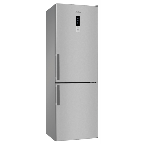 FK3213DFX 60cm freestanding frost-free fridge freezer, stainless steel