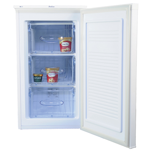 FZ0964 48cm freestanding undercounter freezer, white