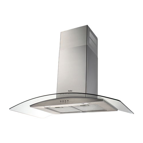 OKP9321G 90cm curved glass extractor, stainless steel