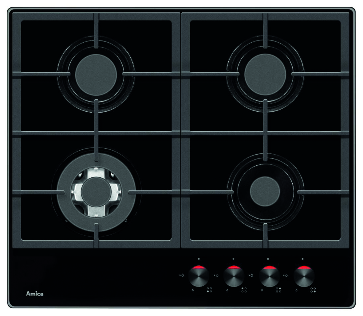 PHCZ6512 Four burner gas on glass hob