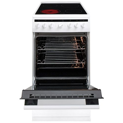 508CE2MSW 50cm freestanding electric cooker with ceramic hob, white Alternative ()