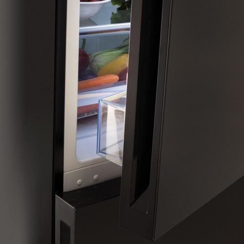 FK3216GBDF 60cm freestanding frost-free 70/30 fridge freezer, black glass Alternative ()