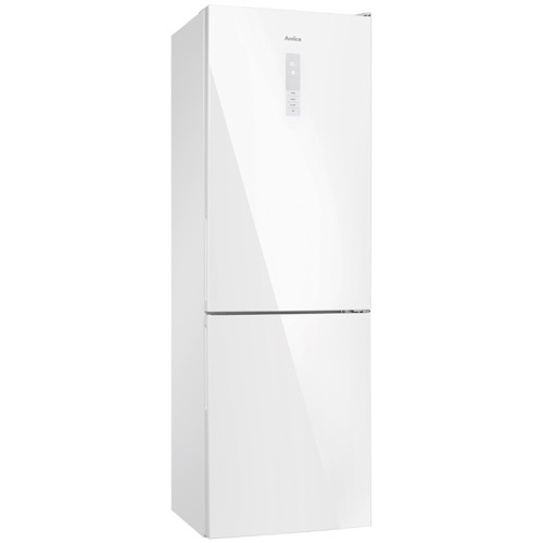 FK3216GWDF 60cm freestanding frost-free 70/30 fridge freezer, white glass Alternative ()