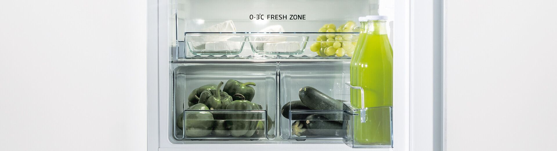 integrated fridge freezer top image