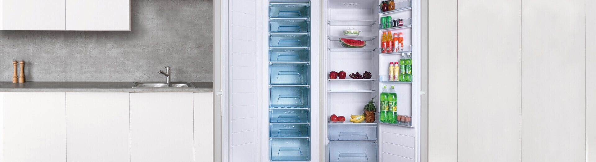 integrated freezers top banner