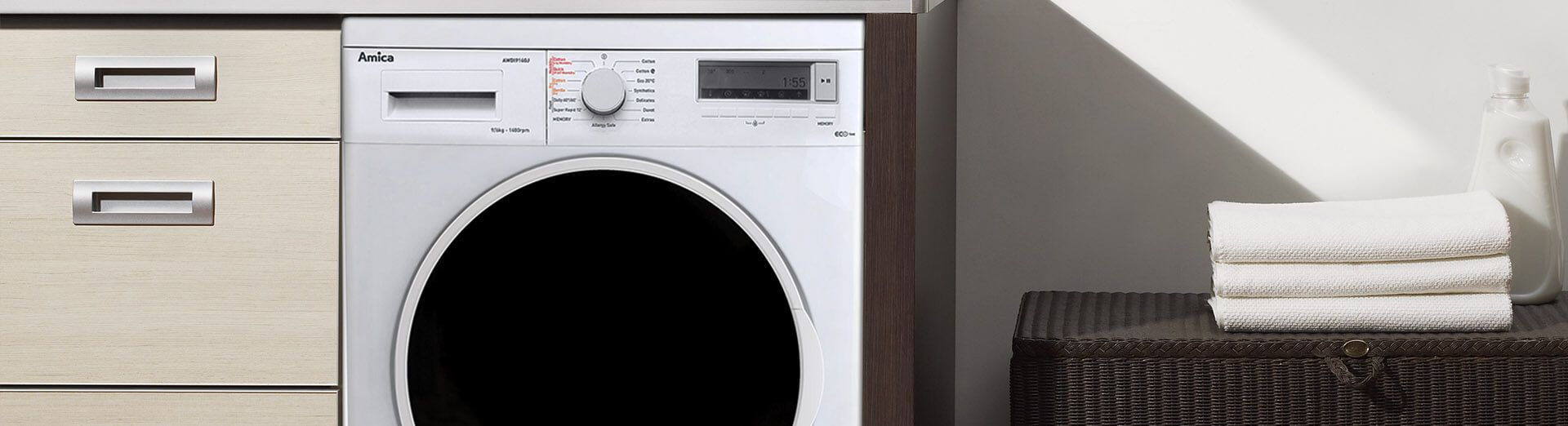Freestanding washer dryer top image